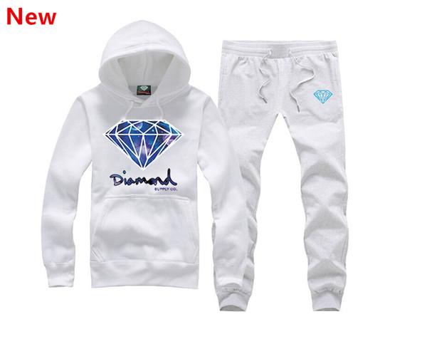 New Diamond Supply sweat suit Autumn sportswear sport men clothes track suits tracksuits male sweatshirts +Pants Plus Size 3XL H05