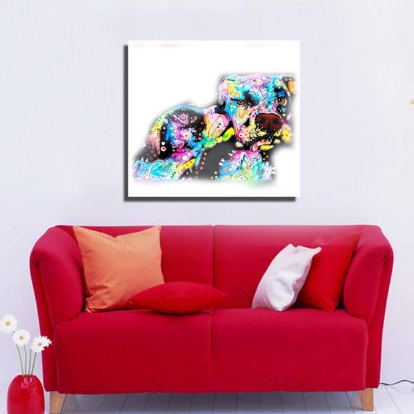 Art toile abstraite moderne animal peinture à l'huile accueil kid chambre mur décoration moderne peinture à l'huile sur toile à vendre