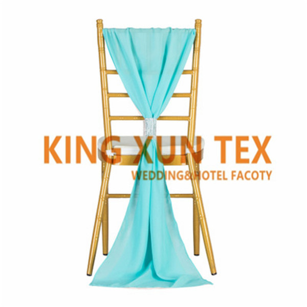 Chiavari Chiffon Chair Sash Chair Tie With Buckle For Wedding Decoration