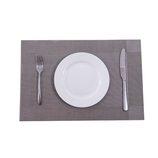 4pcs Placemats PVC Dining Table Mats Heat Insulation Stain-resistant Kitchen Placemat Washable Table Mats