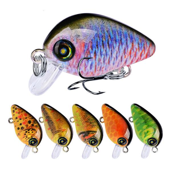 2.85cm 2g Crankbait Fishing Lure Artificial Hard Crank Bait Bass Fishing Wobblers Japan Topwater Minnow Mini Fish Lures