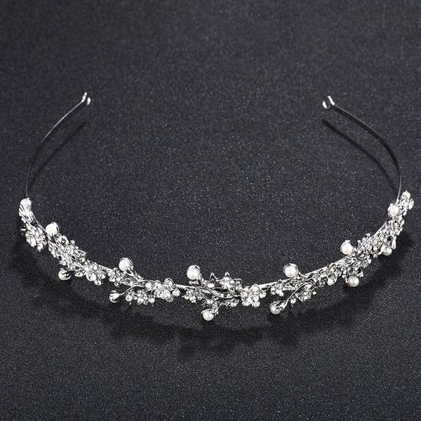 Crystal Rhinestone Crown Tiaras Wedding Hair Accesories Pageant Prom Charms Bride Headband Wedding Jewelry Rim for Hair JCI041