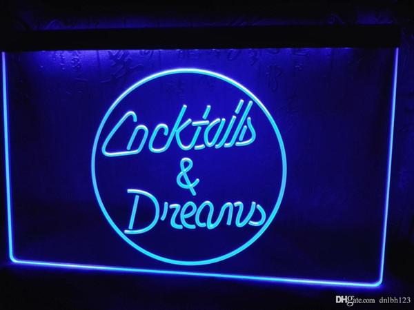 LB336-b Cocktails & Dreams Wine Shop NEW LED Neon Light Sign