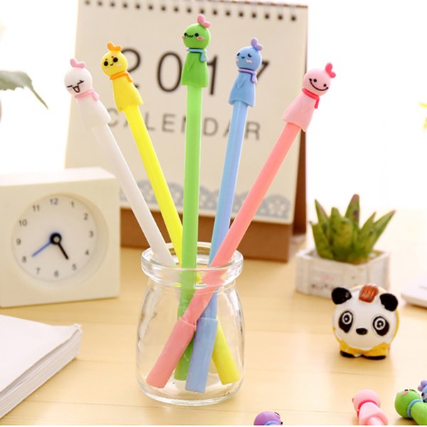 Adorable Sunny Day Doll Gel Pen Candy Color School Office Student Stationery Writing Signing Pen 0.38mm Black Ink 548