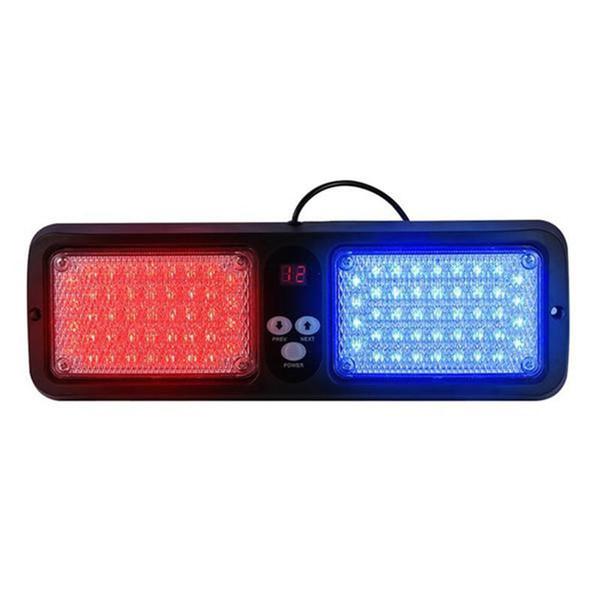 12 Modes 86 LEDs Strobe Light Emergency Flash Warning Caution Sun Shield Visor Lamp Light Bar for Trucks Cars Van