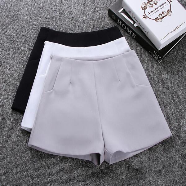 2019 nouvel été chaud mode nouvelles femmes shorts jupes taille haute costume décontracté shorts noir blanc femmes pantalons courts dames shorts