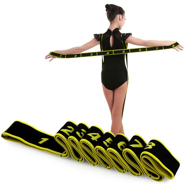 gymnastics latin training bands pilates yoga stretch fitness elastic band