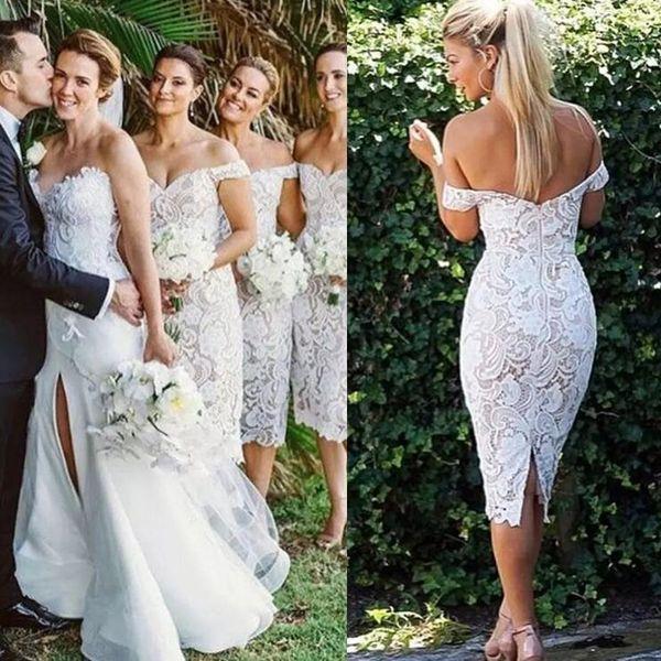 Elegant Lace Short Bridesmaid Dresses