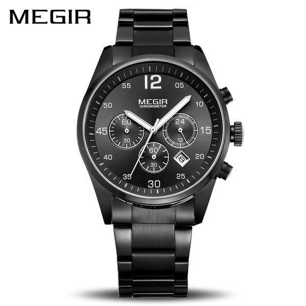 7d5d67162b7 MEGIR Top Brand Men Watch Fashion Chronograph Military Quartz Watches  Stainless Steel Business Wrist Watch Relogio