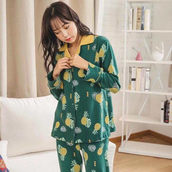7834326ab Primavera y otoño Algodón Postparto Mujeres embarazadas Verano Sección  delgada Pijamas de maternidad Embarazo Lactancia Conjunto