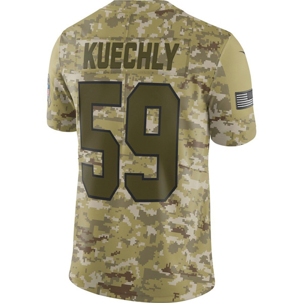 f2992381e 2018 Camo Custom Salute to Service Limited Jersey Carolina Panthers Luke  Kuechly american football jerseys mens