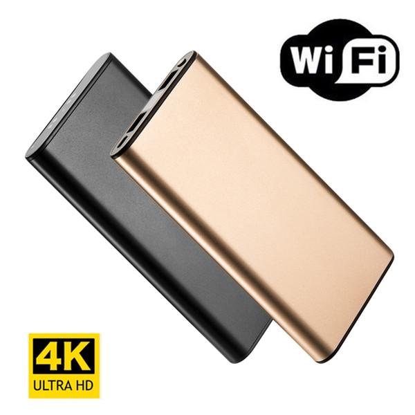 4 K HD Wifi Ağ Taşınabilir Güç Banka Kamera Gece Görüş Dadı Kam Hareket Algılama Uzun Video Kayıt IOS / Android PC için Gerçek zamanlı Görünüm
