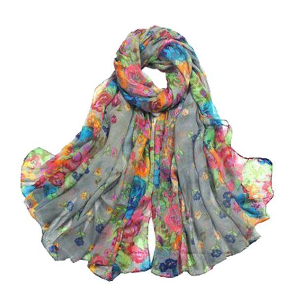 MYTL Women's Spring Autumn Soft Big Long Scarf Vintage Printing Scarves 160*50cm