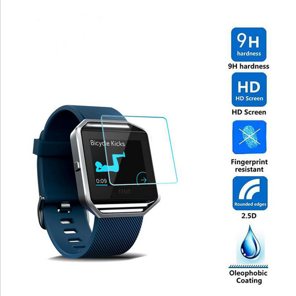 huge discount 170f1 b9057 Ultra HD Clear Tempered Glass Protective Film Guard For Fitbit Blaze Sport  Smart Watch Toughened Display Screen Protector Cover Best Smart Watches Ios  ...