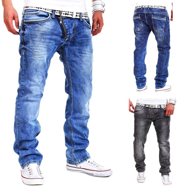 High Quality 2018 CosMaMa Brand mens fancy latest design rockstar wide leg urban with zipper biker jeans pants