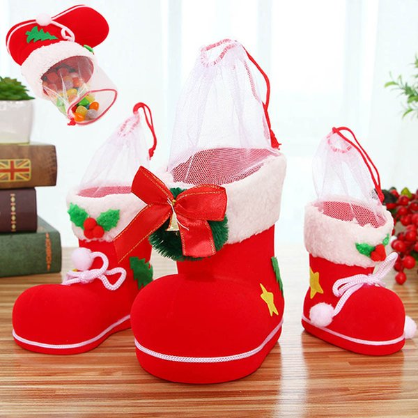 Christmas Shoe Tree.Christmas Candy Boots Gift Shoes Merry Christmas Tree Decorations For Home Xmas Stocking Natal Kids Candy Sock Bags New Year Decoration Indoor