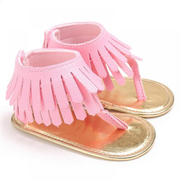Sandals Cow Muscle Crib Sandals Fringe Summer Sandals2018 for Tassel Infant Newborn ROMIRUS Girls 2018 Shoes Kids Baby Moccasins