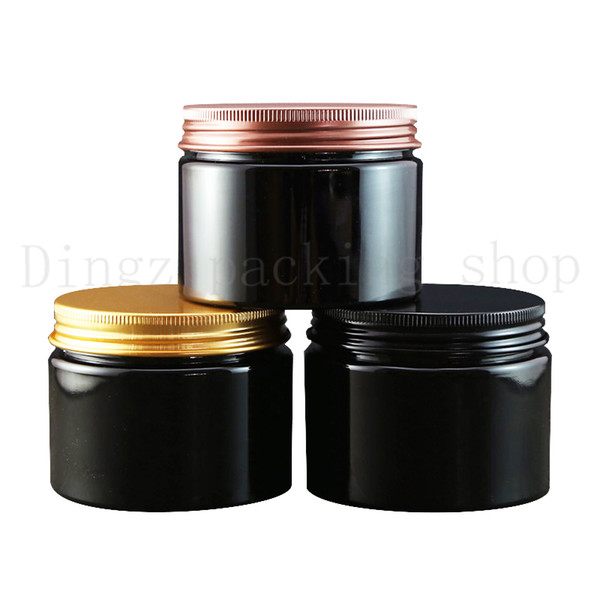 150g Black Empty Plastic Cream Containers Jars With Screw Caps,Deodorant  Containers Cosmetic Packaging Plastic Tin Bottle Art Deco Perfume Bottles