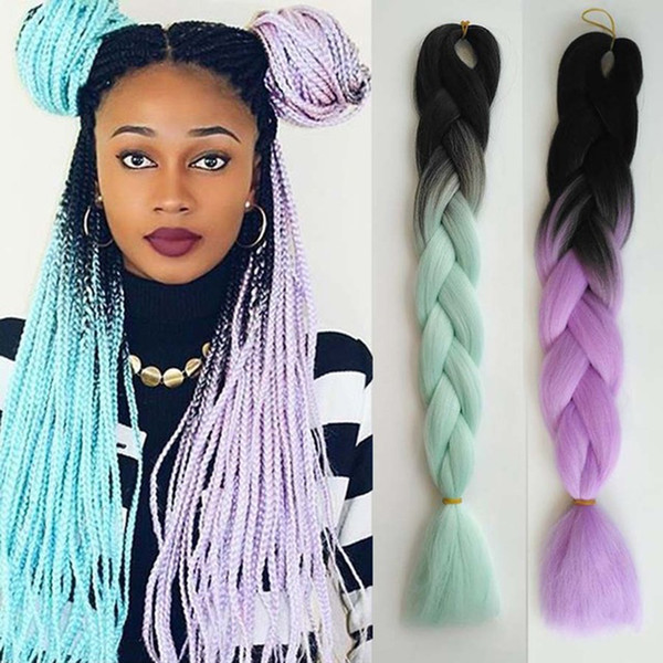 2019 Ombre Kanekalon Braiding Hair Braid 100g Piece White Synthetic Crochet  Braids Hairstyles Braiding Twist Extensions South Africa Uk Usa From