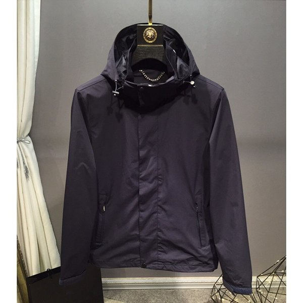 18 FW Diseño de Lujo Chaquetas Con Capucha Sólido Béisbol Negro Patchwork Chaqueta Highstreet Style prendas de Vestir Exteriores Hombres Mujeres HFTTJK056