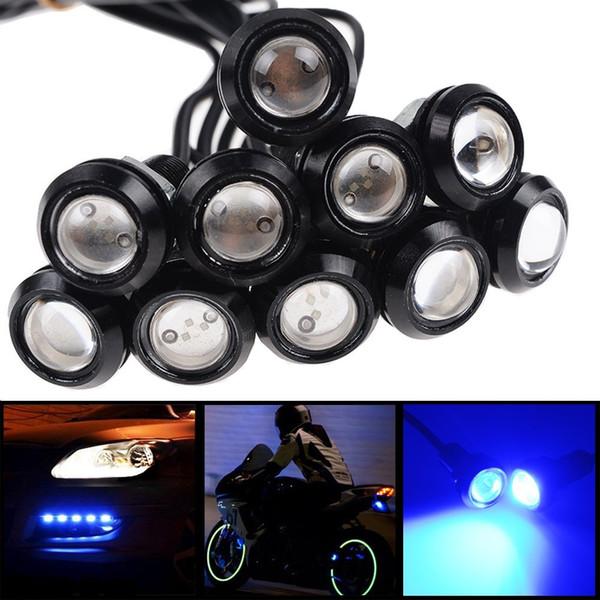 10x 9w Blue LED Eagle Eye 18mm Bumper DRL Fog Light Motorcycle Light Daytime Running DRL Tail Backup Light