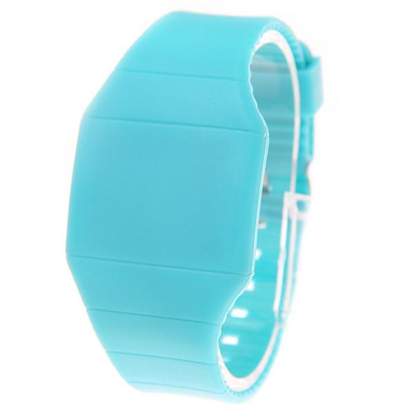 Поставка низкая цена светодиодные лампы электронные часы ультра-тонкий сенсорный экран светодиодные подарок чаша часы