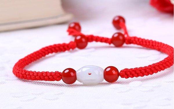 Rote Seil Fußkette