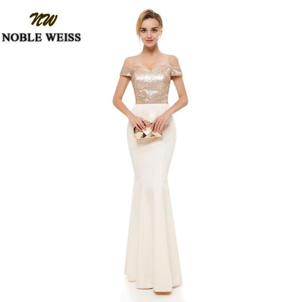 Vestido de dama de honra por atacado longo festa de casamento vestido de lantejoulas champanhe até o chão da dama de honra vestidos de sereia vestido de dama de honra