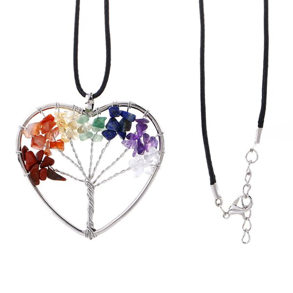 Heart(leather chain)