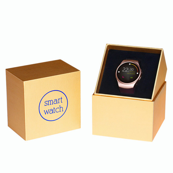 2018 Fashion KW18 Smart Bluetooth Watch Fully Rounded Android Phone Inteligente SIM Card Heart Rate Monitor Watch Clock Mic Anti lost