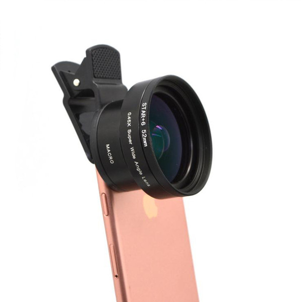 Best selling universal mobile phone external camera lens set without distortion wide-angle macro lens CPL star ND8 filter 5 in 1 set