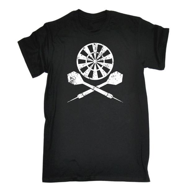 Men's Black 5XL - Dart Board Cross - Funny Sarcastic T-Shirt