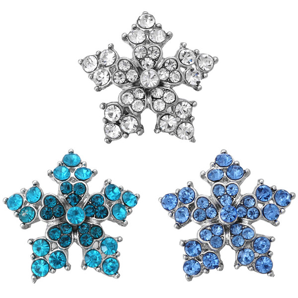 5pcs/lot 2018 New Ginger Snap Jewelry Exotic Style Rhinestone Flower Snap Buttons for 18mm Snaps Bracelet for Women Valentine