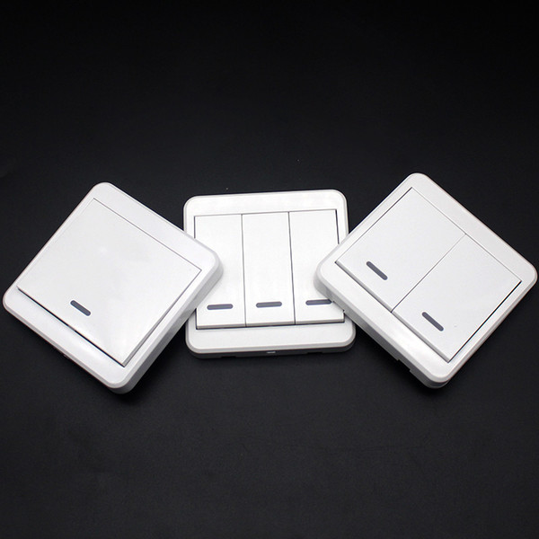 433MHz Mounted Light Switch Wireless Remote Controls 86 Wall Panel RF Transmitter With 1 2 3 Buttons KTNNKG Switch