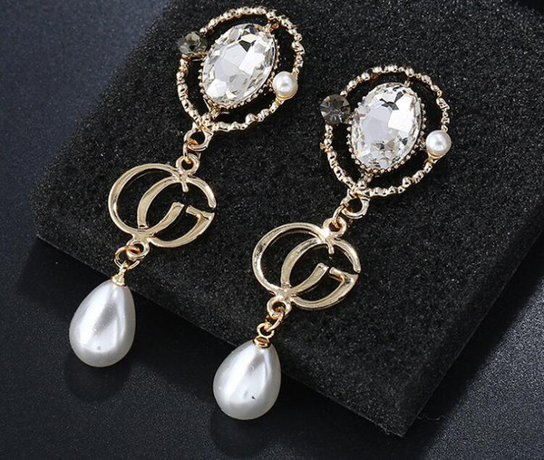 top popular 20183 colors famous brands jewelry rose gold color plated designer earrings for women luxury best Christmas gift for ladies 2019