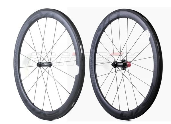 EVO 700C 50mm profondità 25mm larghezza bici da strada ruote in carbonio Copertoncino / tubolare bici da strada in carbonio wheelset con UD finitura opaca