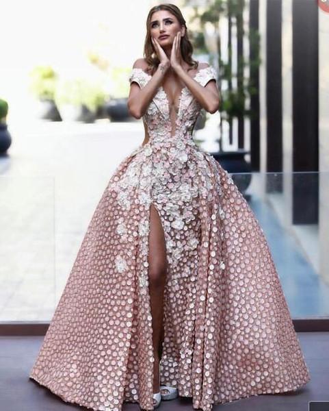 Vestido de noite Longo Vestido Split Applique Lantejoulas Organza vestido de Baile Pode ser personalizado Modern Clássico fashion popular