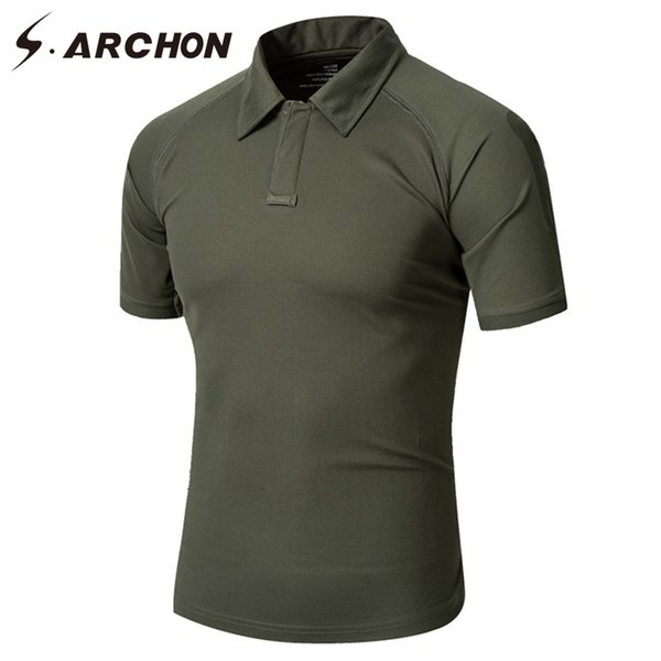 S.ARCHON Summer Style Camouflage Shirt Men Casual Breathable Fabric Tactical Shirts Slim Quick Dry Camo s