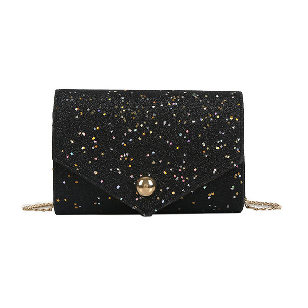 2018 Simple Fashion Mini Hasp Crossbody Bag Party Travel Handbag New Arrival Women Female Sequins Chain Shoulder Bag Popular