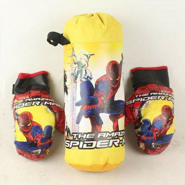 Spider-Man Boxing Gloves Sandbags Hanging Sports Set Toy for Children Training Fitness Boxing Sandbag Classic Spiderman Kids Toys