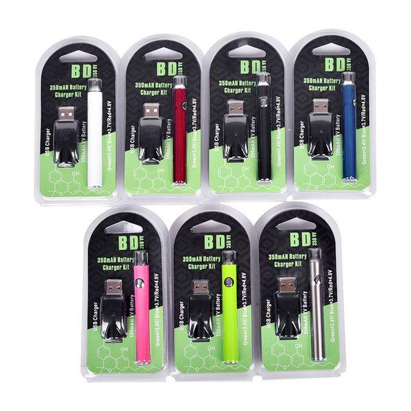Ön Isıtma Pil USB Kitleri LO Pil Co2 Yağ Buharlaştırıcı O Kalem 510 Vape Kalem E Sigara Piller 350 mah VV Pil Ce3 Kartuş