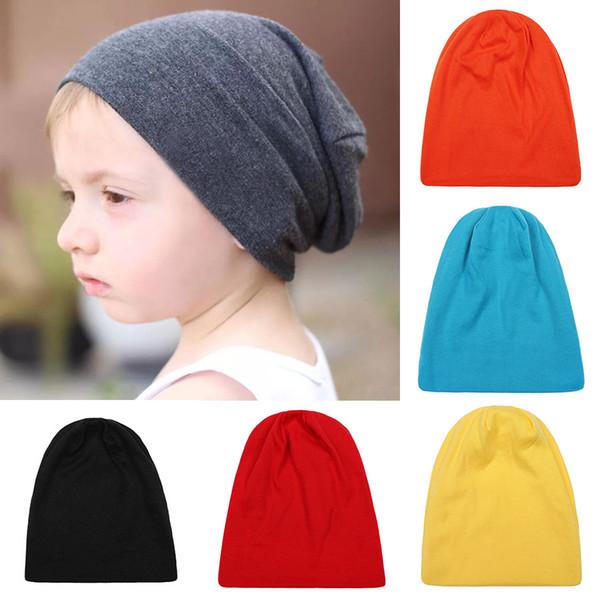 Los más nuevos niños del bebé colores del caramelo sombreros muchachos niñas ocio casquillos niños otoño invierno cálidos gorras sombreros del partido partido desgaste exterior 14 colores C5241