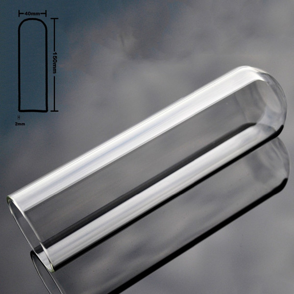 40mm Hollow pyrex glass artificial penis big anal dildo butt plug crystal fake dick masturbation adult sex toy for women men gay Y18110504