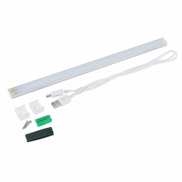 LED Touch Sensor Kitchen Cabinet Lamp DC 5V Wardrobe Closet Showcase Bookshelf White USB Lamp With Touch Switch