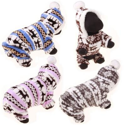 Dog Coral Velvet Clothing 4 Feet Dog Coat Winter Warm Pet Puppy Costumes New Style Teddy Apparel