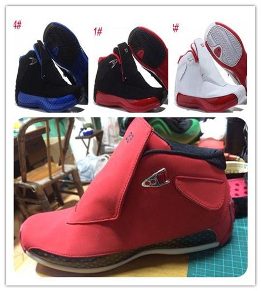 18 gamuza roja para hombre, zapatos de baloncesto 18s, gimnasio, rojo, negro, zapatillas deportivas, zapatillas de deporte para correr, atletismo, con caja, botas de envío gratis