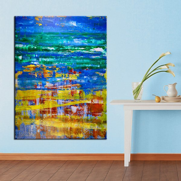 1 Panel Oil Painting Prints on Canvas Wall Art Abstract Colorful Modern Home Decor Posters Wall Pictures for Living Room No Frame