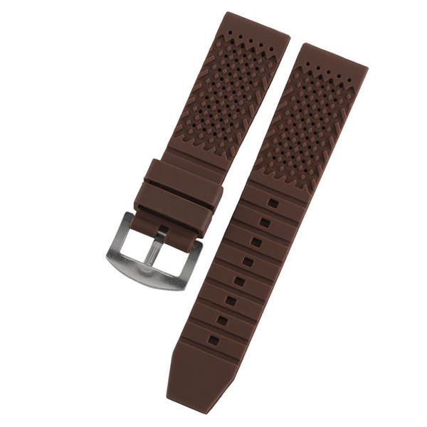Banda de silicone 18mm / 20mm / 22mm / 24mm Pequeno Buraco Respirável Pulseira de Borracha À Prova D 'Água Correias para Relógios Relógio de Pulso Das Mulheres Dos Homens