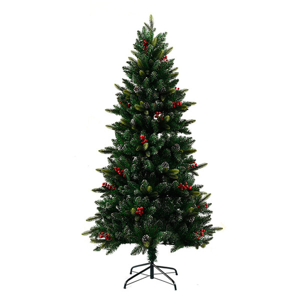 Fashion Christmas Tree Christmas Store Window Decorations Kerst Decoratie Pineal Red Ornaments Large Green Xmas Artificial Tree