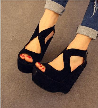 New 2016 Vintage Women Sandal 10 Cm High Heels Gladiator Sandals ... 0588a8ed8